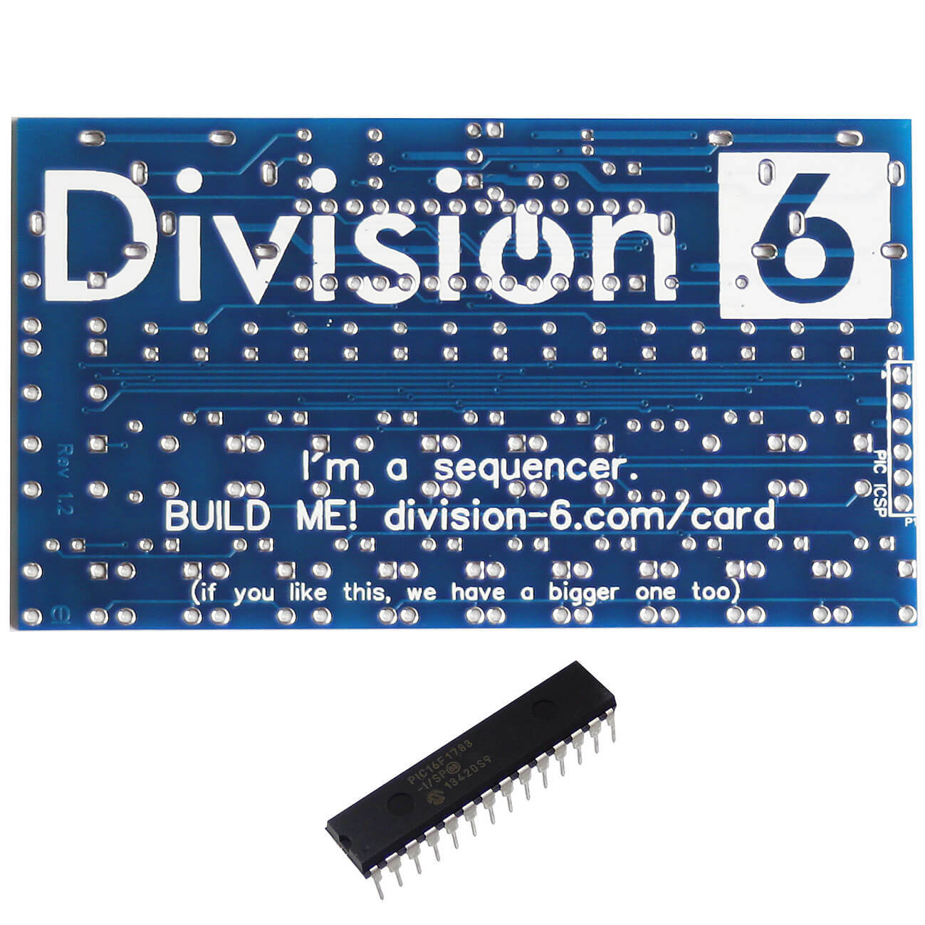 Division 6 Business Card Sequencer PCB and IC