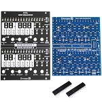 Division 6 Dual Mini Sequencer PCB, Panel and ICs