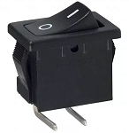 SPST Black Rocker Switch, Right Angle