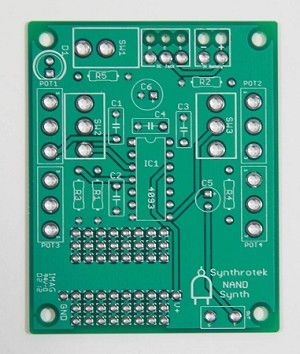 4093 CHAOS NAND Synth PCB