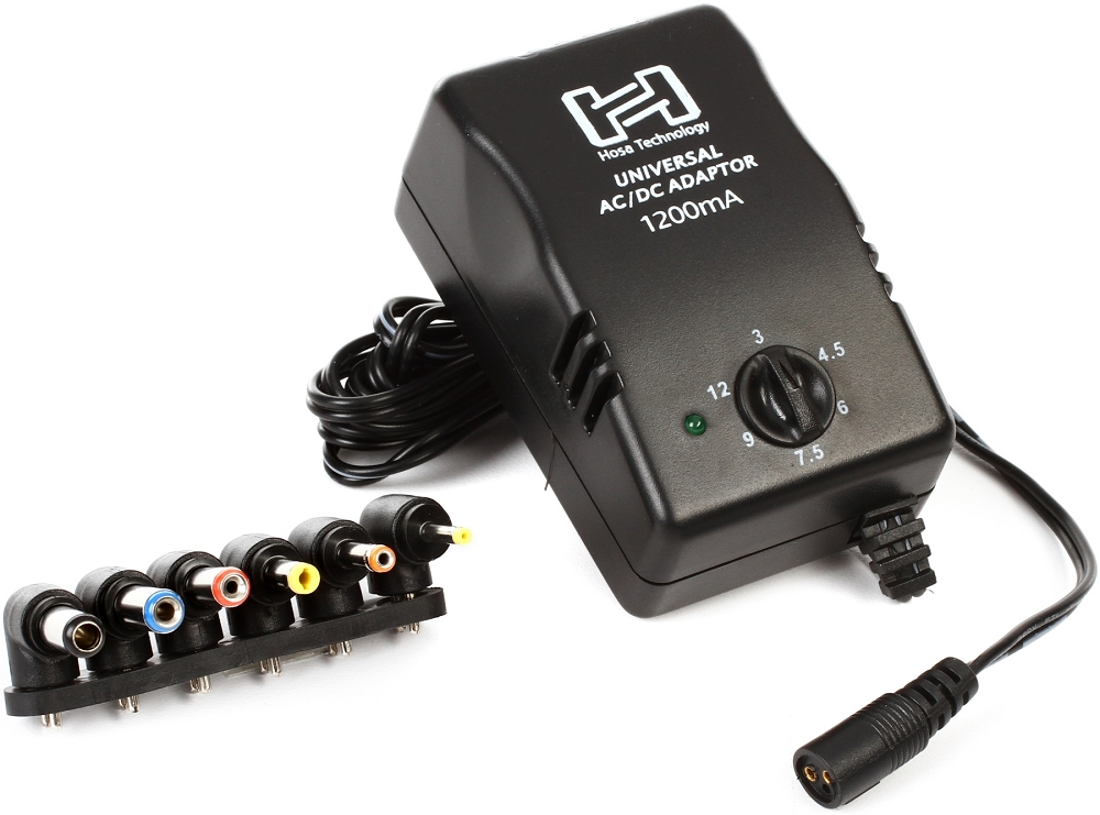 hosa universal power adapter selectable vdc 1200ma