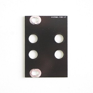 1U 6HP Blank Eurorack Panel - 4 Holes
