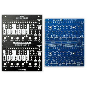 Division 6 Dual Mini Sequencer V2 PCB, Panel and ICs