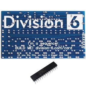 Division 6 Business Card Sequencer V2 PCB and IC