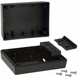 Serpac 232i 9V Black Plastic Case